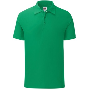 Vêtements Homme Polos manches courtes Fruit Of The Loom Iconic Vert