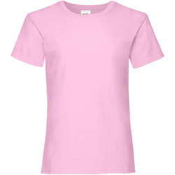 Vêtements Fille T-shirts manches courtes Fruit Of The Loom 61005 Rose clair