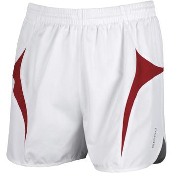 Vêtements Homme Shorts / Bermudas Spiro S183X Blanc/Rouge
