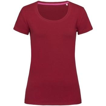 Vêtements Femme T-shirts manches courtes Stedman Stars Claire Bordeaux