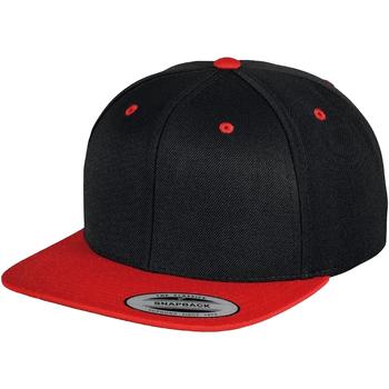 Accessoires textile Casquettes Yupoong  Noir/Rouge
