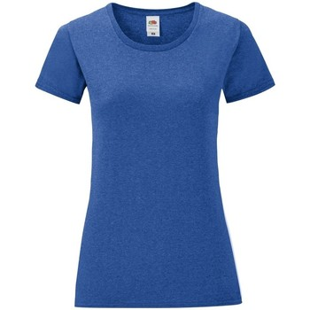 Vêtements Femme T-shirts manches courtes Fruit Of The Loom Iconic Bleu roi chiné