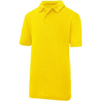Vêtements Enfant Polos manches courtes Just Cool Plain Jaune