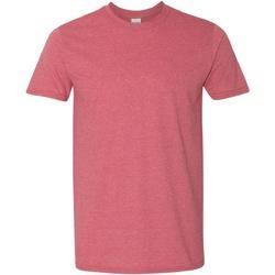 Vêtements Homme T-shirts manches courtes Gildan Soft-Style Rouge foncé chiné