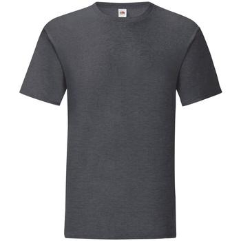 Vêtements Homme T-shirts manches courtes Fruit Of The Loom Iconic Gris foncé chiné