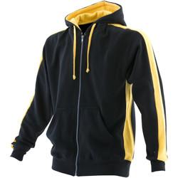 Vêtements Homme Sweats Finden & Hales Hooded Noir/Jaune