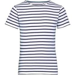 Vêtements Enfant T-shirts manches courtes Sols Striped Blanc/Bleu marine