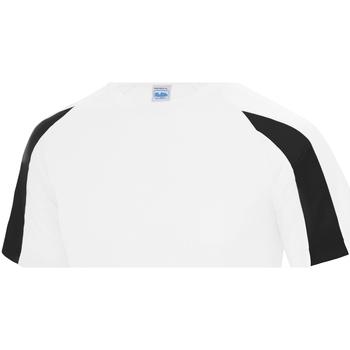 Vêtements Enfant T-shirts manches courtes Just Cool Contrast Blanc arctique/Noir