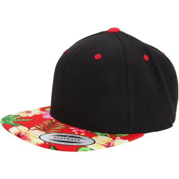 Accessoires textile Casquettes Yupoong YP003 Noir/Rouge floral