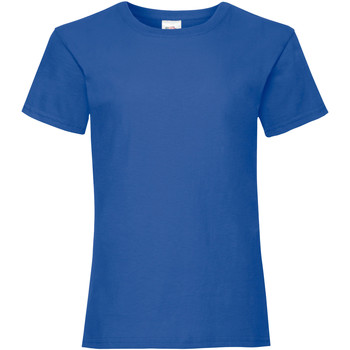 Vêtements Fille T-shirts manches courtes Fruit Of The Loom Valueweight Bleu royal