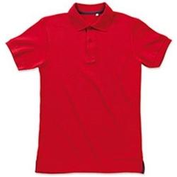 Vêtements Homme Polos manches courtes Stedman Stars Henry Rouge Clair