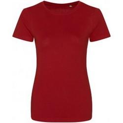 Vêtements Femme T-shirts manches courtes Ecologie Organic Rouge