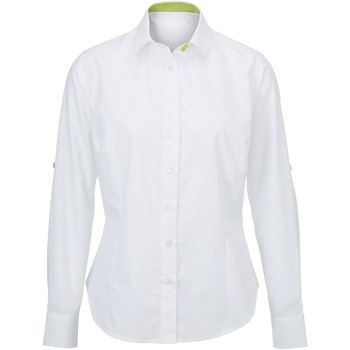 Vêtements Femme Chemises / Chemisiers Alexandra AX060 Blanc/Vert citron