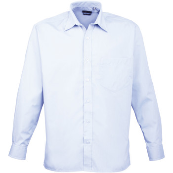 Vêtements Homme Chemises manches longues Premier PR200 Bleu clair