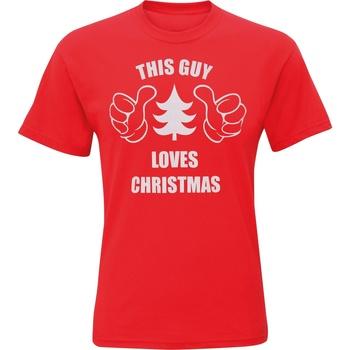 Vêtements Homme T-shirts manches courtes Christmas Shop CJ200 Rouge
