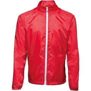Vêtements Homme Coupes vent 2786 Contrast Rouge/Blanc