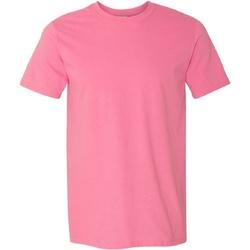 Vêtements Homme T-shirts manches courtes Gildan Soft-Style Rose