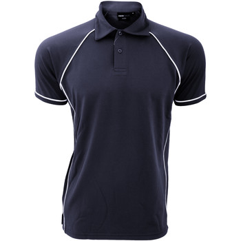 Vêtements Homme Polos manches courtes Finden & Hales Piped Bleu marine/Blanc