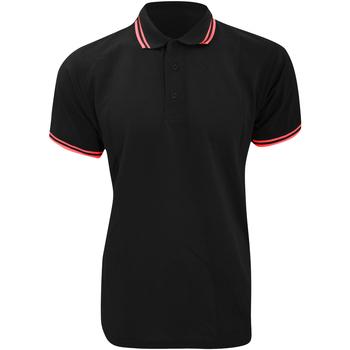 Vêtements Homme Polos manches courtes Kustom Kit KK409 Noir/Rouge