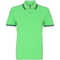 Vêtements Homme Polos manches courtes Asquith & Fox AQ011 Vert clair/bleu marine