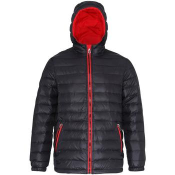 Vêtements Homme Doudounes 2786 Hooded Noir/Rouge