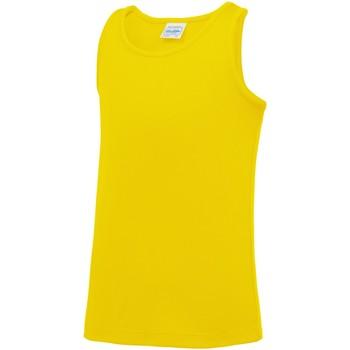 Vêtements Enfant Débardeurs / T-shirts sans manche Awdis JC07J Jaune soleil