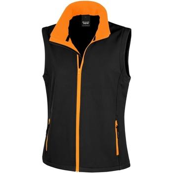 Vêtements Femme Gilets / Cardigans Result Printable Noir/Orange