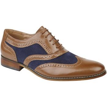 Chaussures Garçon Richelieu Roamers Oxford Fauve / bleu marine