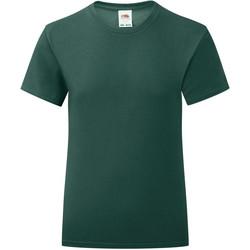 Vêtements Fille T-shirts manches courtes Fruit Of The Loom Iconic Vert foncé