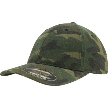 Accessoires textile Casquettes Flexfit Baseball Vert camouflage
