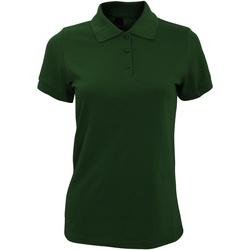 Vêtements Femme Polos manches courtes Sols Prime Vert bouteille