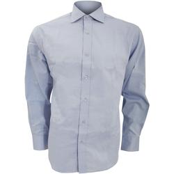 Vêtements Homme Chemises manches longues Kustom Kit Oxford Bleu clair