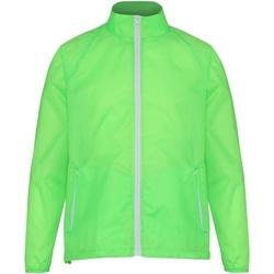 Vêtements Homme Coupes vent 2786 Contrast Citron Vert/Blanc