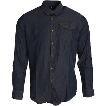 Vêtements Homme Chemises manches longues Premier Stitch Indigo