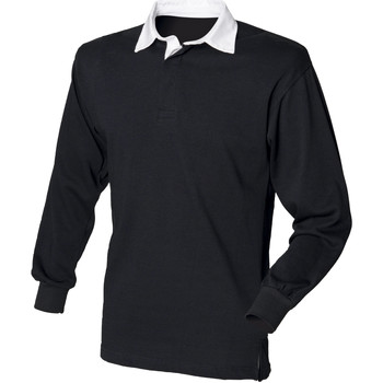 Vêtements Homme Polos manches longues Front Row Rugby Noir/Blanc