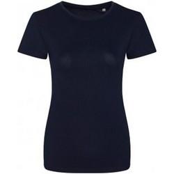 Vêtements Femme T-shirts manches courtes Ecologie Organic Bleu marine