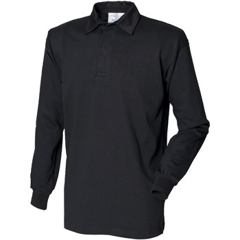 Vêtements Homme Polos manches longues Front Row Rugby Noir/Noir