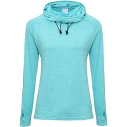 Vêtements Femme T-shirts manches longues Awdis Cowl Neck Bleu océan chiné