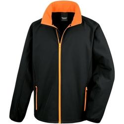 Vêtements Homme Polaires Result Softshell Noir/Orange