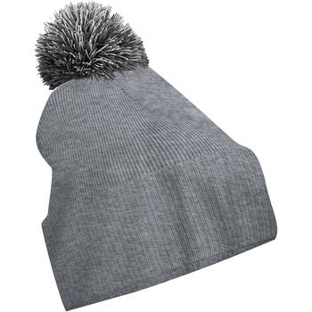 Accessoires textile Fille Bonnets Beechfield Snowstar Gris cendre/Noir