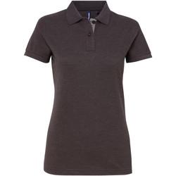Vêtements Femme Polos manches courtes Toutes les chaussures femme Contrast Gris sombre/Gris