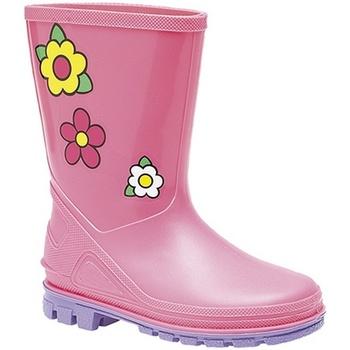 Chaussures Fille Bottes de pluie Stormwells Floral Rose/Lilas