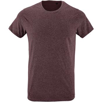 Vêtements Homme T-shirts manches courtes Sols Slim Fit Bordeaux chiné