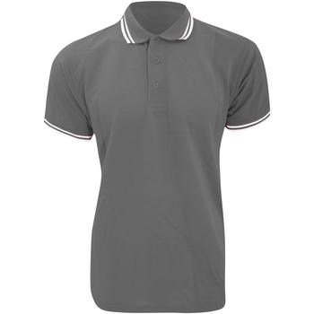 Vêtements Homme Polos manches courtes Kustom Kit KK409 Graphite/Blanc