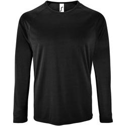Vêtements Homme T-shirts manches longues Sols Performance Noir