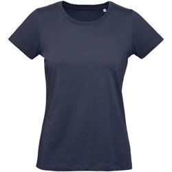 Vêtements Femme T-shirts manches courtes B And C Inspire Bleu marine