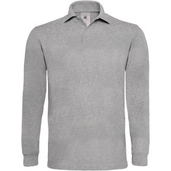Vêtements Homme Polos manches longues B And C Heavymill Gris