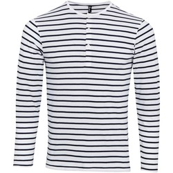 Vêtements Homme T-shirts manches longues Premier Long John Blanc/Bleu marine
