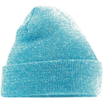Accessoires textile Bonnets Beechfield Soft Feel Bleu clair chiné