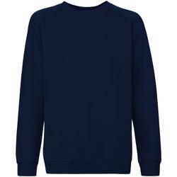Vêtements Enfant Sweats Fruit Of The Loom Raglan Bleu marine profond